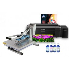 Планшетный термопресс INKSYSTEM P-3838 38*38 см и принтер Epson L132 с набором для сублимационной печати