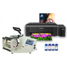 Термопресс INKSYSTEM M-01 для кружек и принтер Epson L132 с набором для сублимационной печати (Артикул 10008)