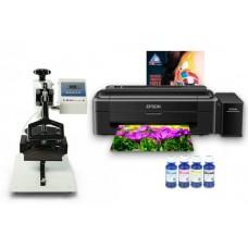 Кепочный термопресс INKSYSTEM B-01 и принтер Epson L132 с набором для сублимационной печати