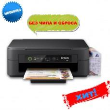 МФУ струйное цветное Epson Expression Home XP-2100 + СНПЧ +Чернила INKSYSTEM 4 баночки по 100 мл